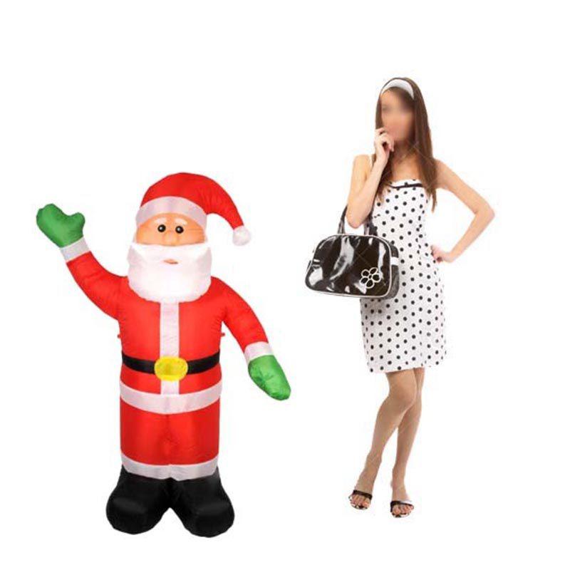 Papai Noel Inflavel Grande Para Decoracao De Natal Boneco Natalino (Bsl-36041-1)