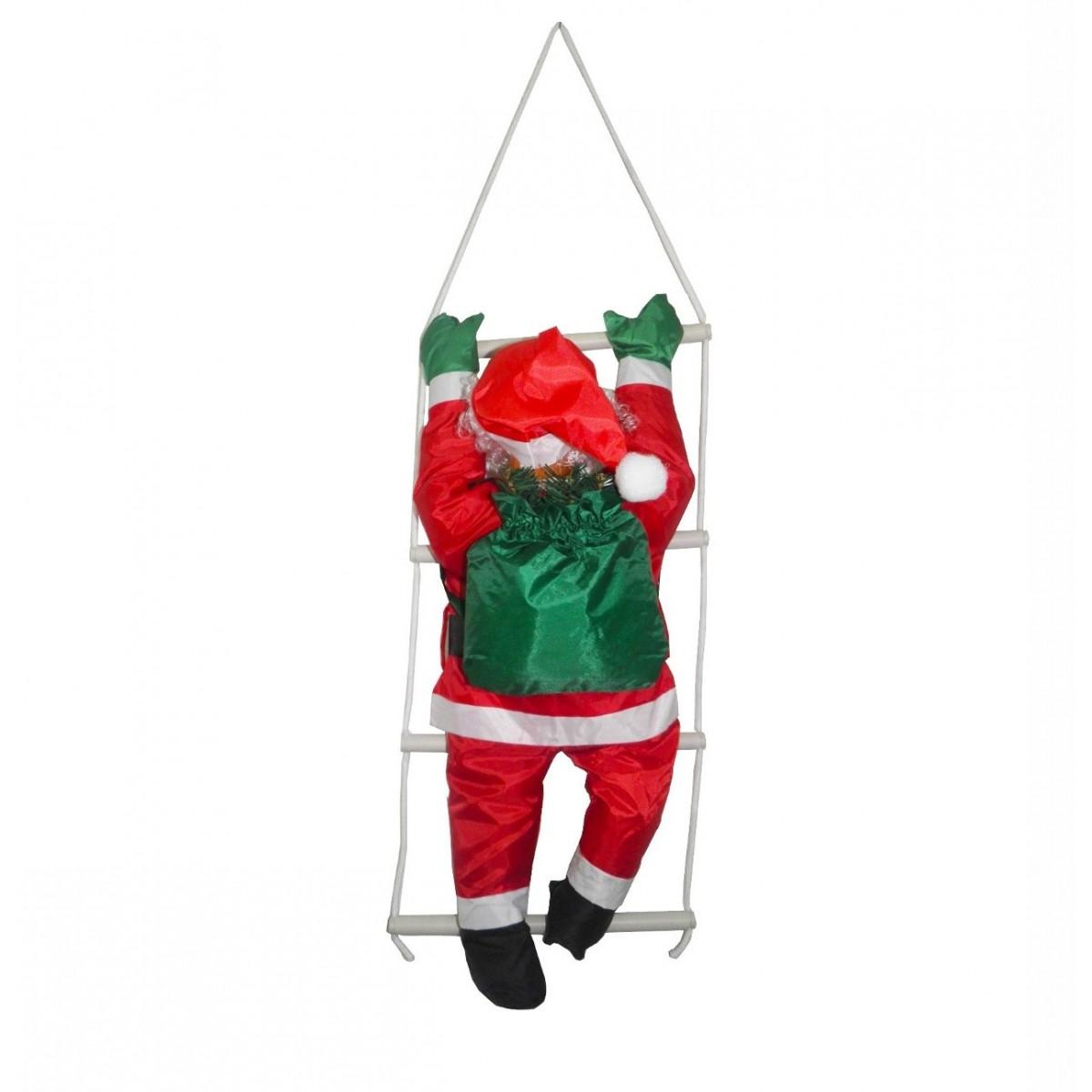 Papai Noel Subindo Escada Natal Decoracao Enfeite Natalino (BSL-36041-11)