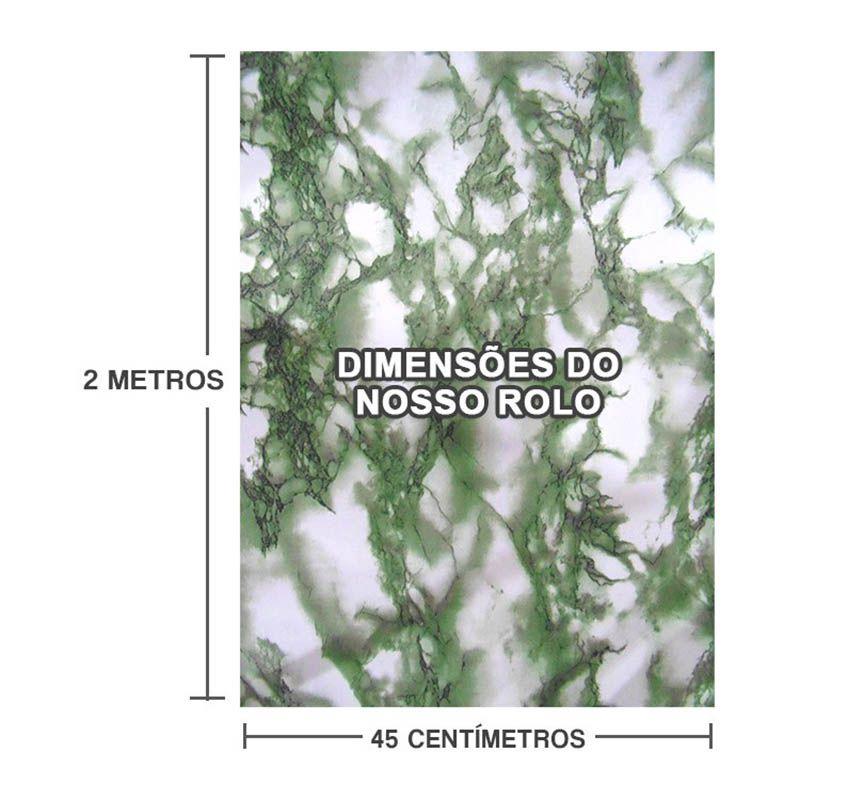 Papel de Parede Marmore Adesivo Vinilico Lavavel Decorado Verde (bsl-42079-1-F)