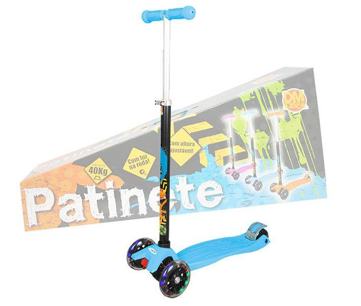 Patinete De Led Infantil Com 3 Rodas Ajustavel Scooter Com Freio Portatil (DMR4886)