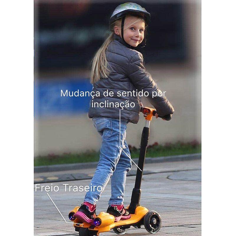 Patinete Infantil 3 Rodas Brinquedo Bluetooth Led Fumaça Turbo Musica (5449/5359)