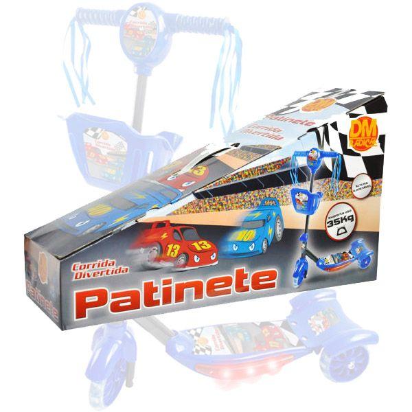 Patinete Musical Sonoro Luminoso 3 Rodas Freio Traseiro (DMT5026)