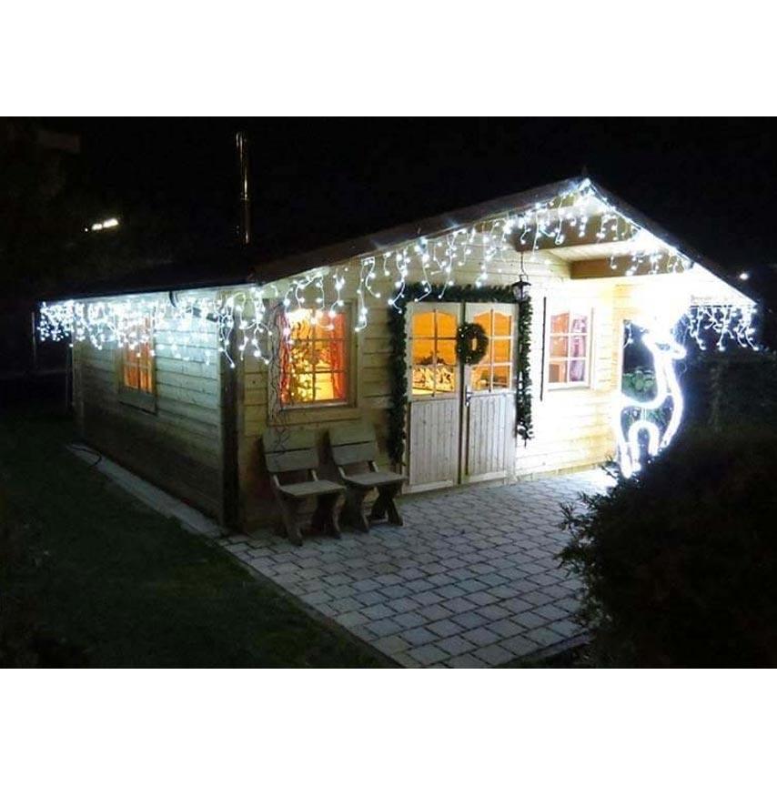 Pisca Pisca 100 Leds Branco Cascata Natal Casa Decoração Natalina (JA-81104 branco)