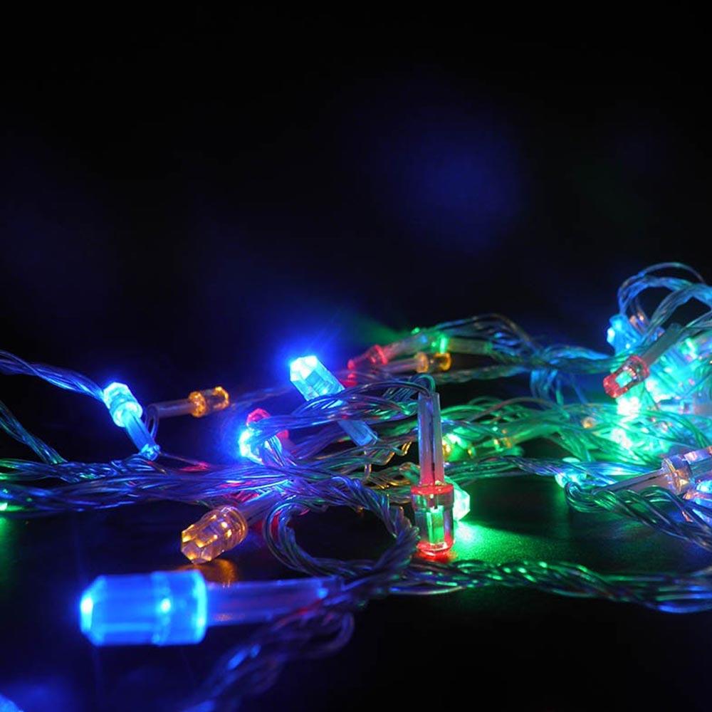 Pisca Pisca 100 LEDs Colorido 8 Funções Enfeite 9m Diamantes Natalino