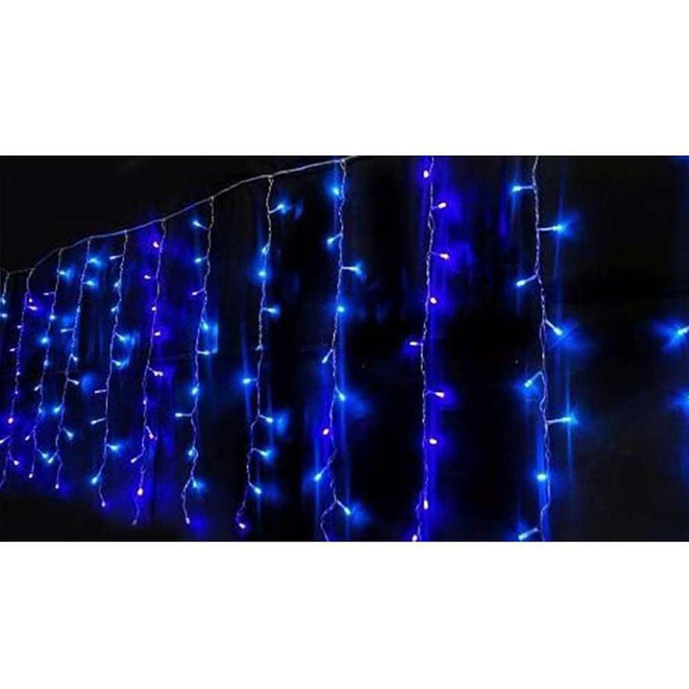 Pisca Pisca de Natal 200 Leds Cascata Decoração Natalina Azul (JA-81105 Azul)