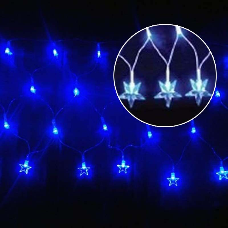 Pisca Pisca Led Estrela De Natal 120 Lampadas 8 Funçoes Azul (JA80504 azul)