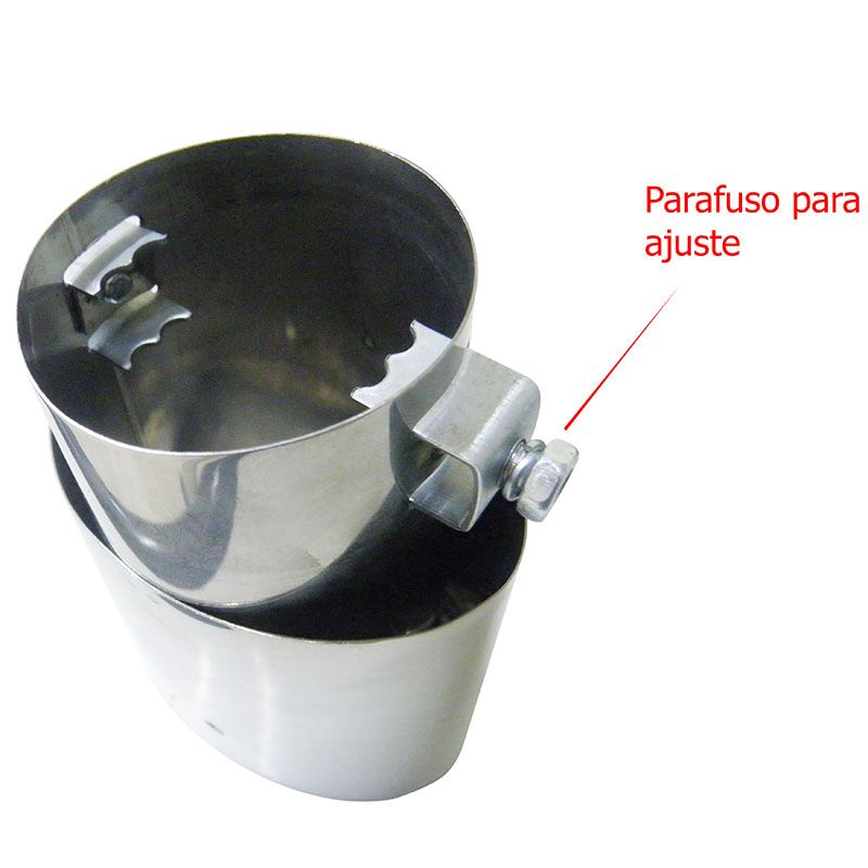 Ponteira Escapamento Automotivo Esportiva Carro Cromada (BR-H57903)