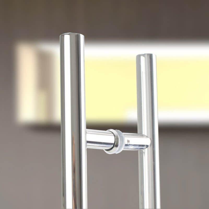 Puxador Para Porta Aco Inox 1 Metro e 20 cm Duplo H Casa Porta Pivotante (BSL-PXD-4)