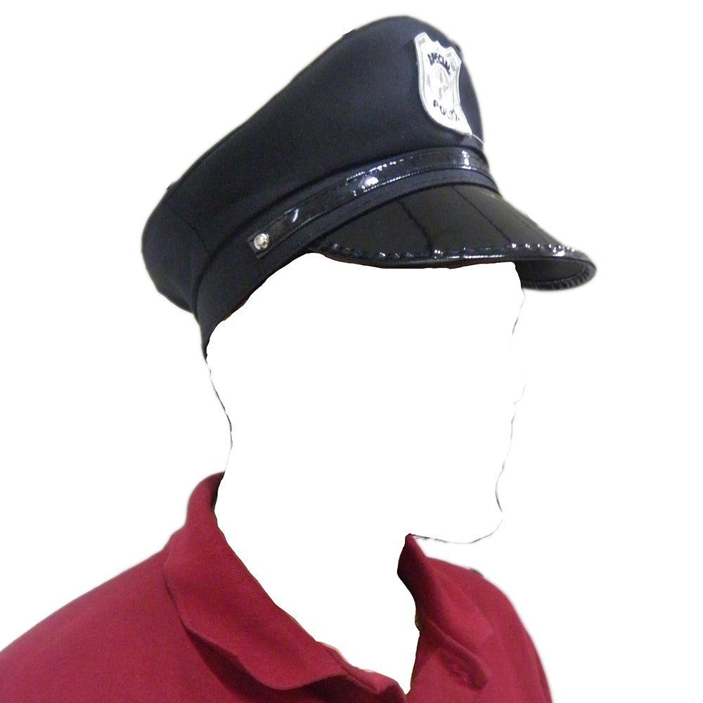 Quepe Chapeu Policial Carnaval Boina Cosplay Fantasia Festa