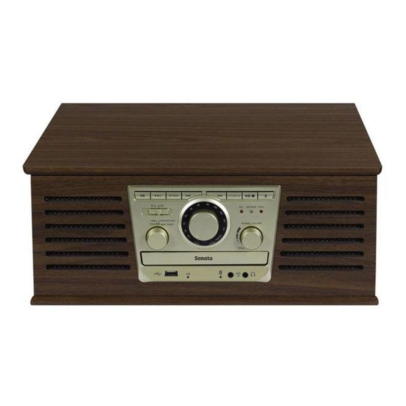 Radio Vintage CD Toca Discos Vinil FM USB Bluetooth