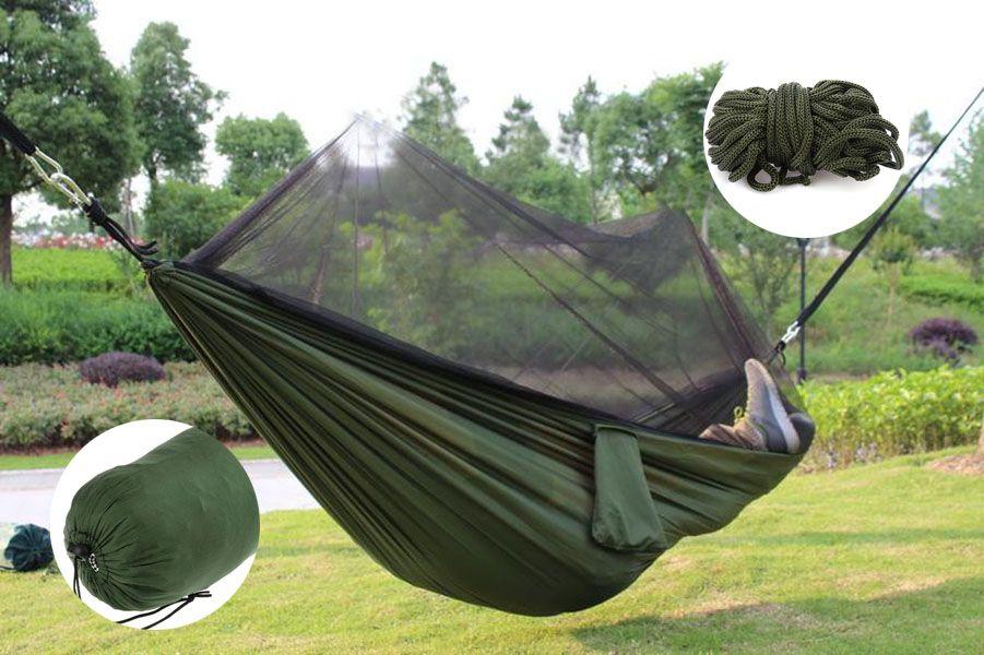 Rede De Descanso Com Mosquiteiro 150kg Camping Viagem Novo (BSL-REDE-1)