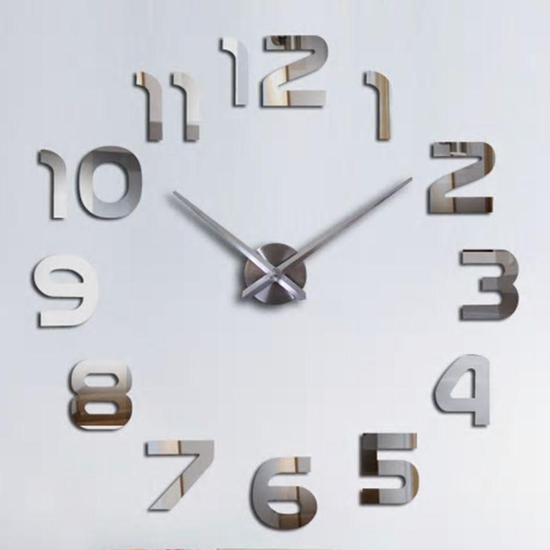 Relógio 3D Grande Decorativo Parede Escritório Casa Sala