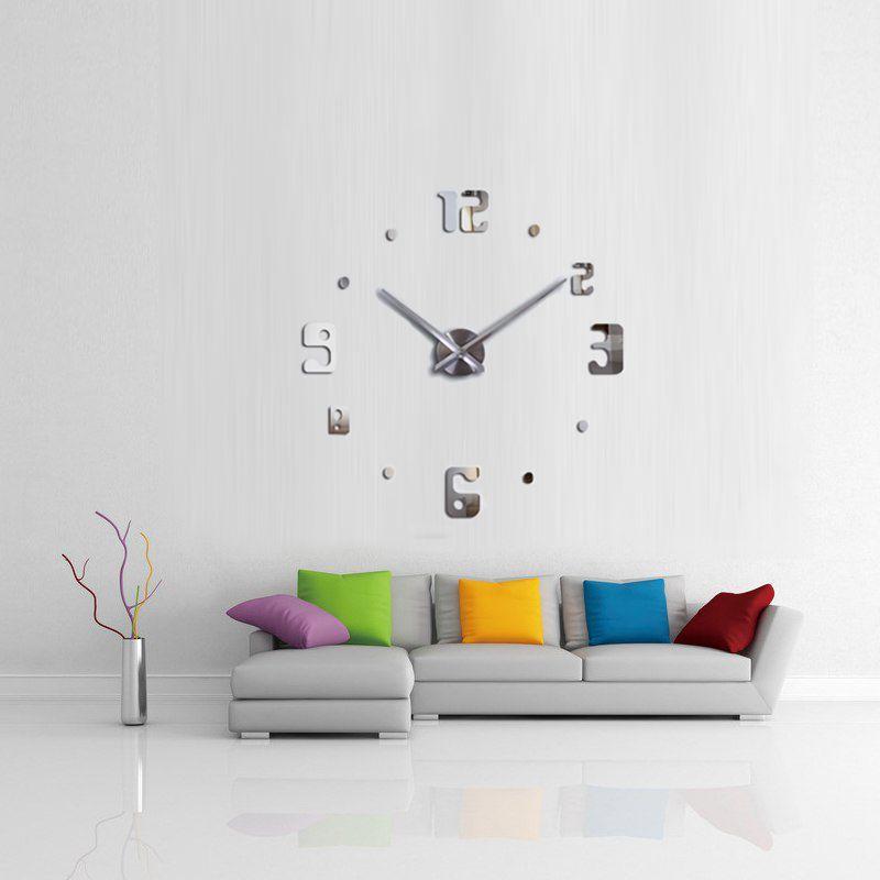 Relógio 3D Grande Parede Decoração Sala Escritório Casa