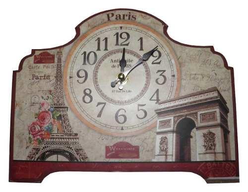 Relogio De Mesa Paris Vintage Retro Decoracao Casa (XIN-07)