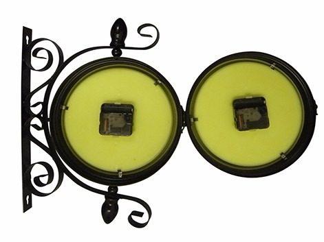Relogio De Parede Dupla Face Casa Retro Vintage Decorativo Preto (REL-13)