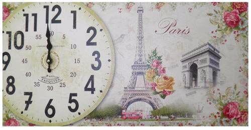 Relogio de Parede Vintage Cozinha Retro Paris Decoracao Monumentos (XIN-04)