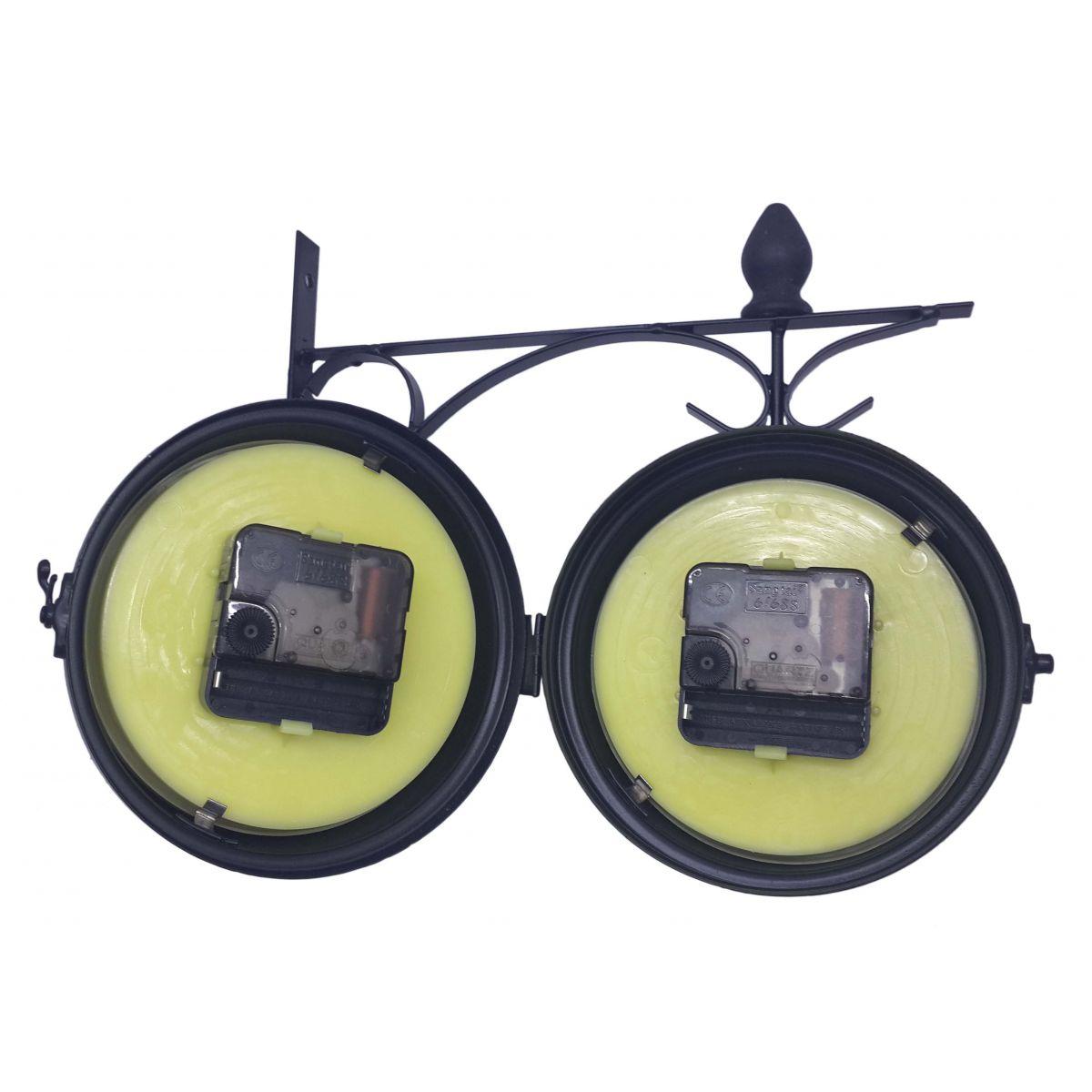 Relogio De Parede Vintage Retro Decorativo Dupla Face Para Casa (REL-25)