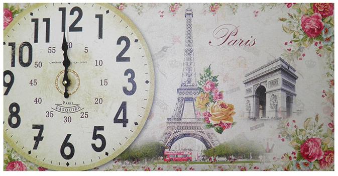 Relogio Para Parede Cozinha Vintage Retro Decoracao Monumentos Paris Horizontal