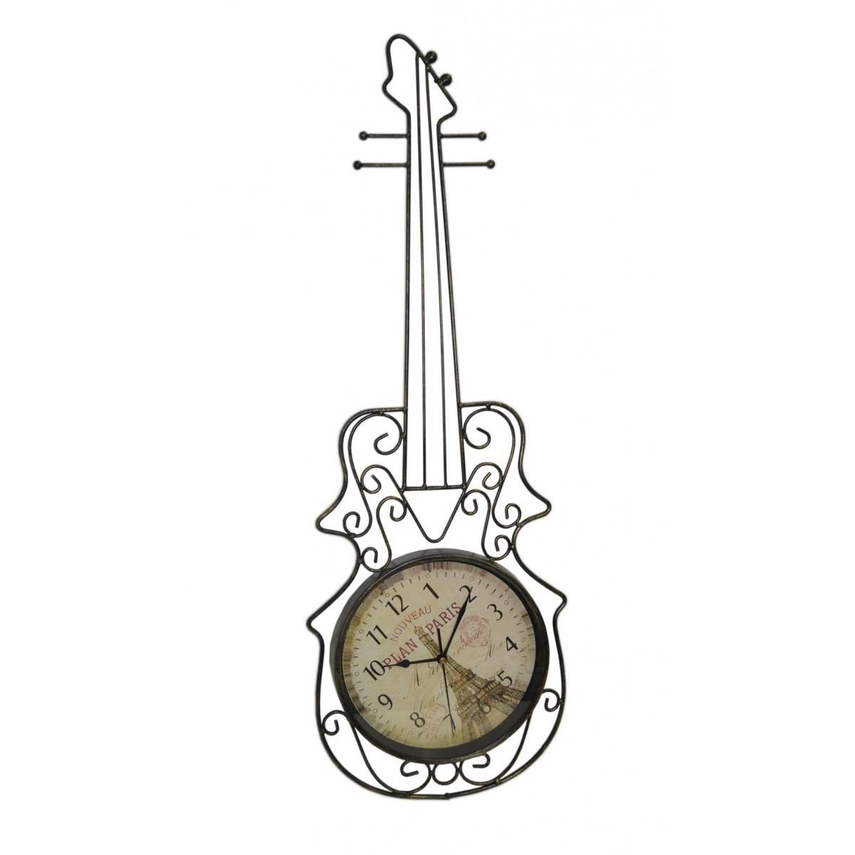Relogio Parede Violino Vintage Retro Decorativo Decoracao (REL-44)