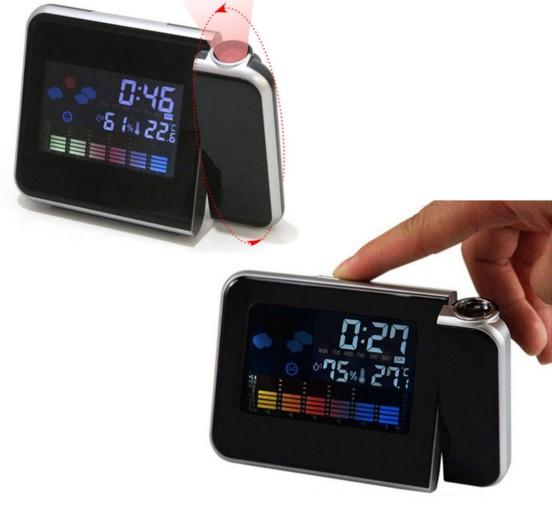 Relogio Projetor Hora Desperta Mede Temperatura Led (DS-8190 / BSL-REL-53)