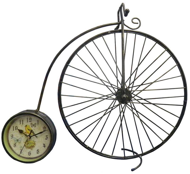 Relogio Vintage Modelo Bicicleta Antiga Retro de Mesa para Casa e Escritorio Preto (rel-30)