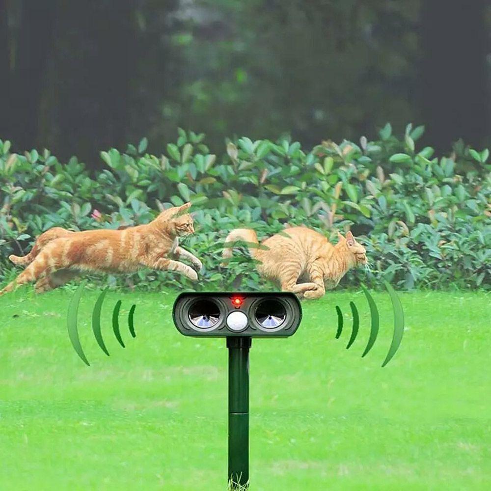 Repelente Solar Ultrassônico De Animais E Pragas Jardim Pombos Morcegos