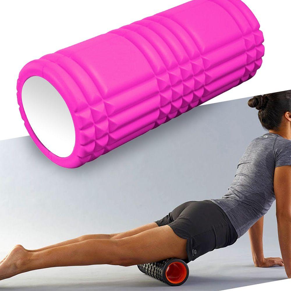 Rolo Miofascial Massagem Relaxamento Roller Foam Pilates Yoga Rosa