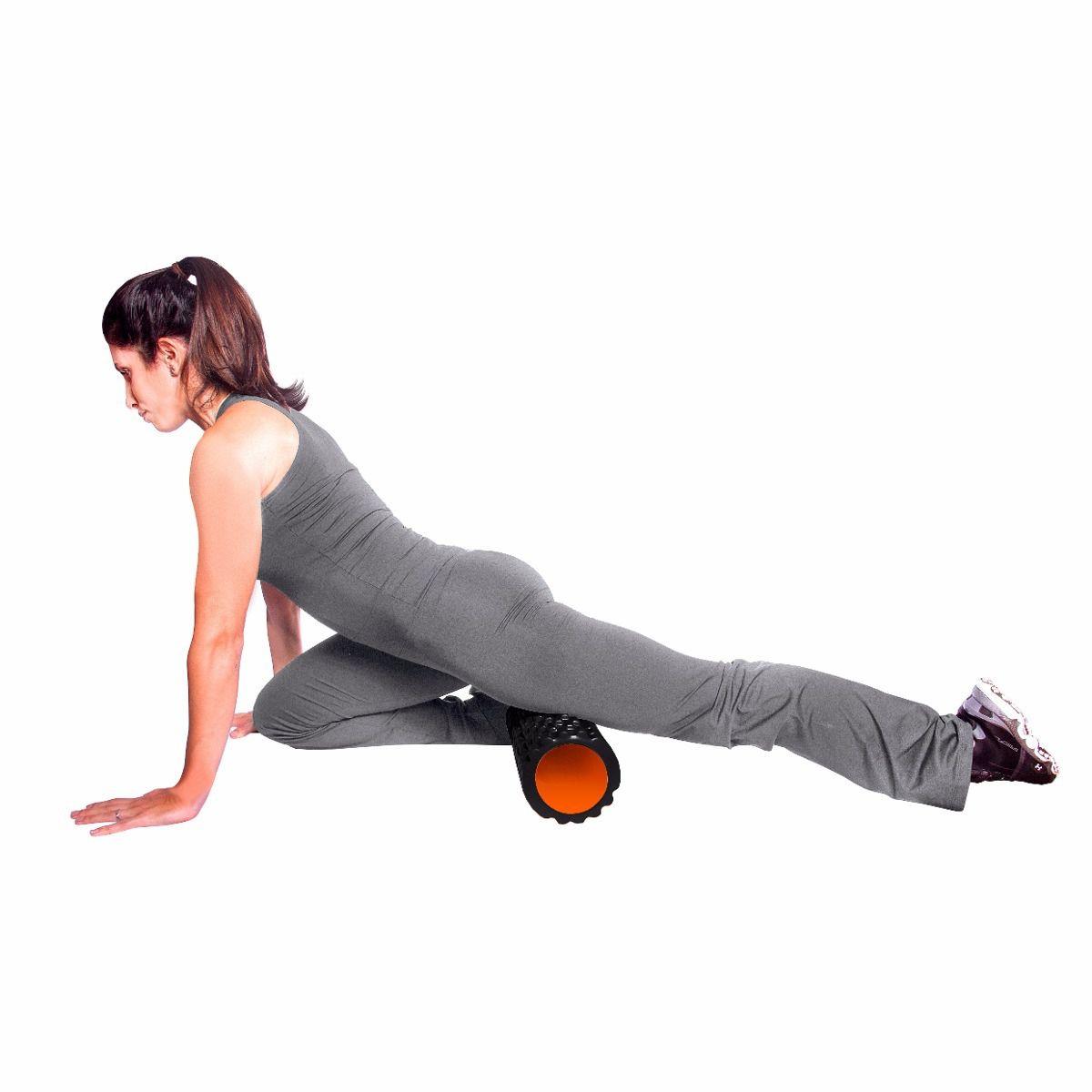 Rolo Miofascial Roller Foam Yoga Fitness Exercicio Pilates Massagem Roxo