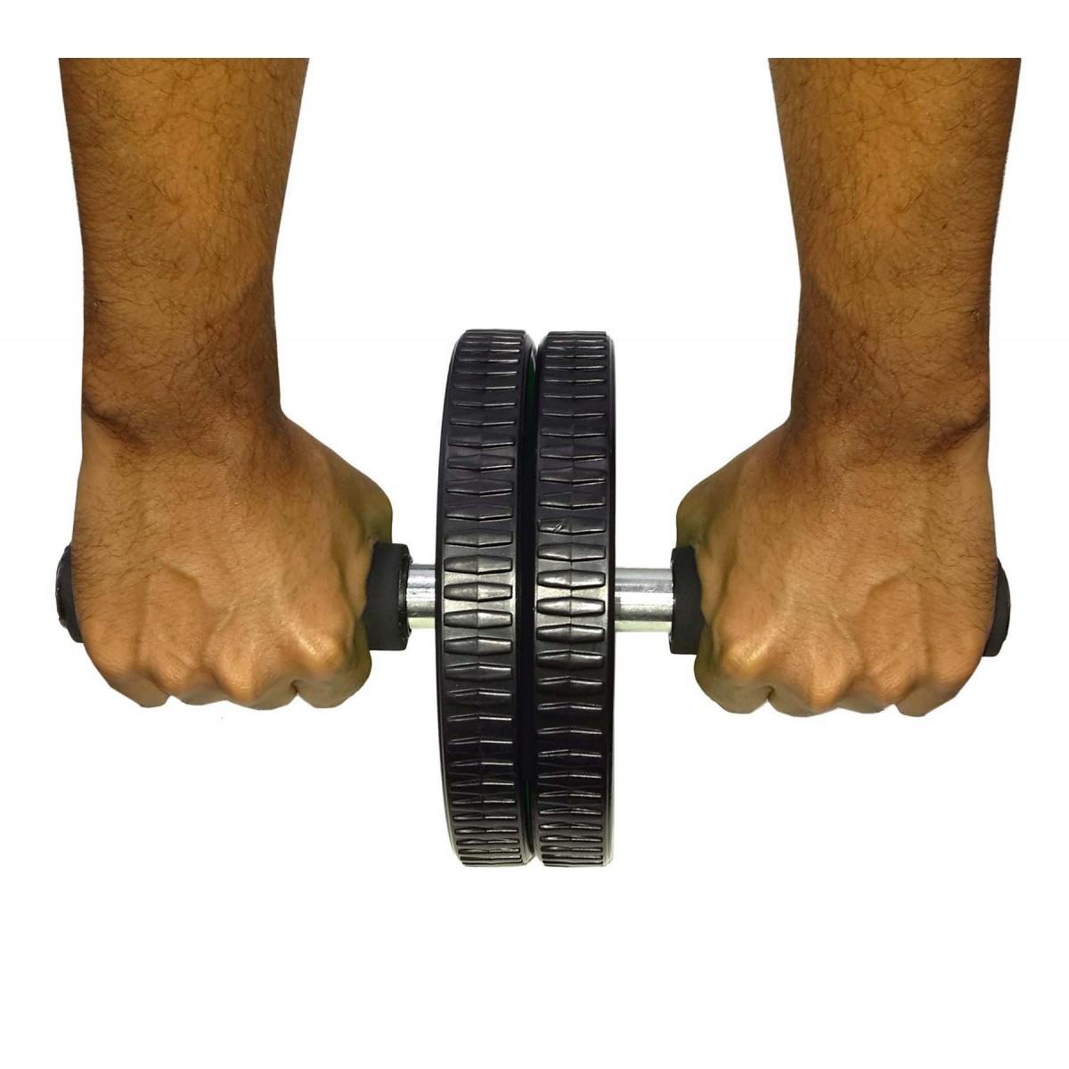 Rolo Roda Abdominal Exercita e Fortalece Abdome Malha Braço Cor Roxo (BSL-RU-1)