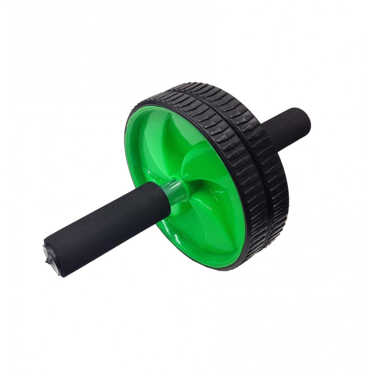 Rolo Roda Abdominal Para Exercicio Fisico Fitness Fortalecimento Abdome e Lombar Verde (BSL-JS002)