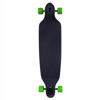 Skate Longboard Abec Rebaixado Truck Invertido Verde e Amarelo Com Ondas (SKT-7)