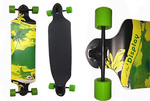 Skate Longboard Rebaixado Truck Invertido Verde Coqueiro (skt-6)