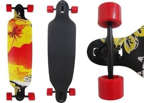 Skate Longboard Truck Invertido Vermelho Rebaixado Abec 11
