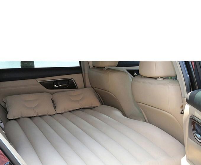 Sofa Cama Colchao Inflavel Automotivo Para Carro Camping Viagem 2 Travesseiros Cinza Claro (BSL-45765-7)