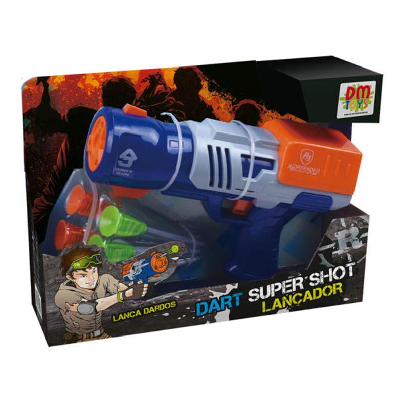 Super Shot Lançador Dart Dardos Brinquedo Divertido Infantil