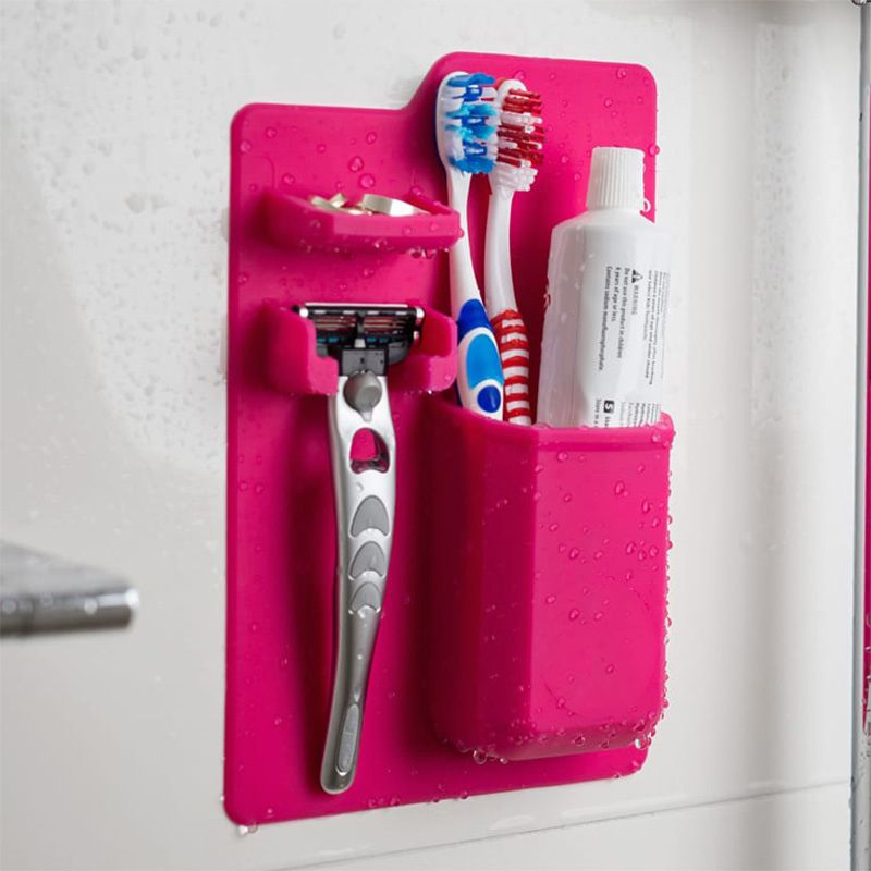 Suporte Para Escova de Dente Silicone Pasta Creme Box Banheiro
