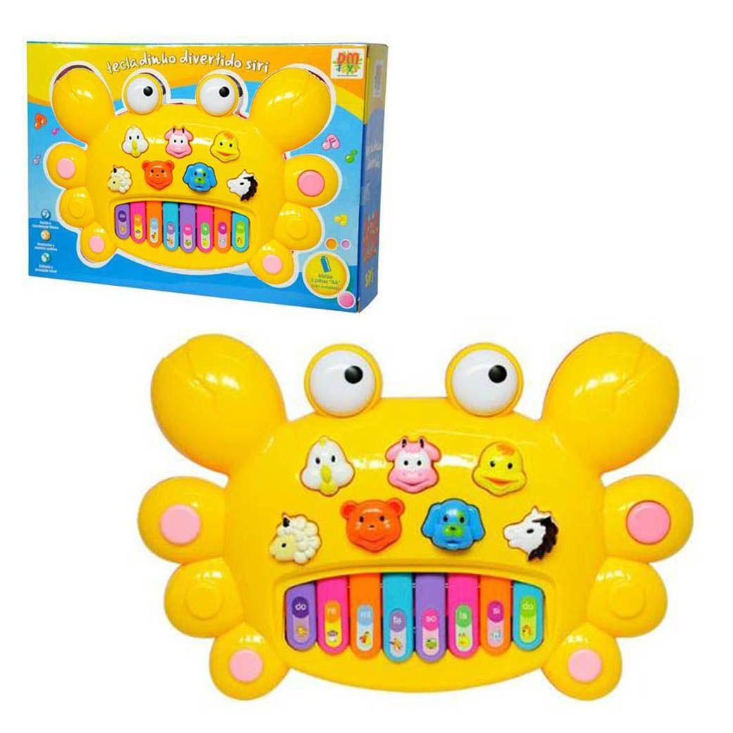 Tecladinho Infantil Divertido Siri Som Brinquedo Crianca (DMT3847)