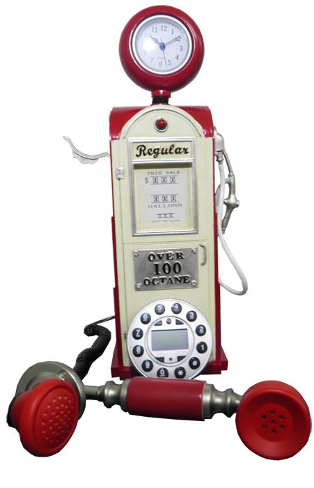 Telefone Com Fio Vintage Retro Estilo Bomba De Gasolina e Gas (84003)