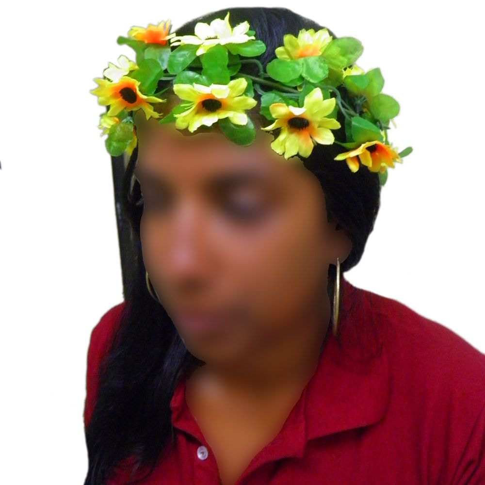Tiara Flor Kit Com 4 Carnaval Folia Festa Fantasia Enfeite