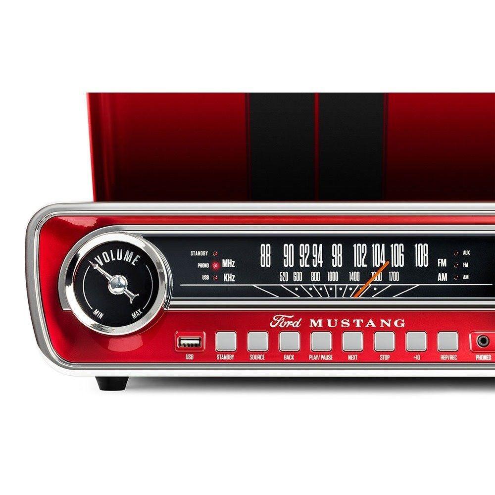 Toca Disco LP Mustang USB Retro 4 Em 1 Vintage Radio Vinil Vitrola (MUSTANGLP)