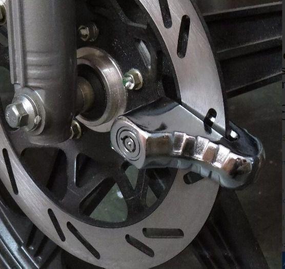 Trava Tranca de Freio Disco Moto Universal Aco Seguranca Motocicleta (ZE-0045)