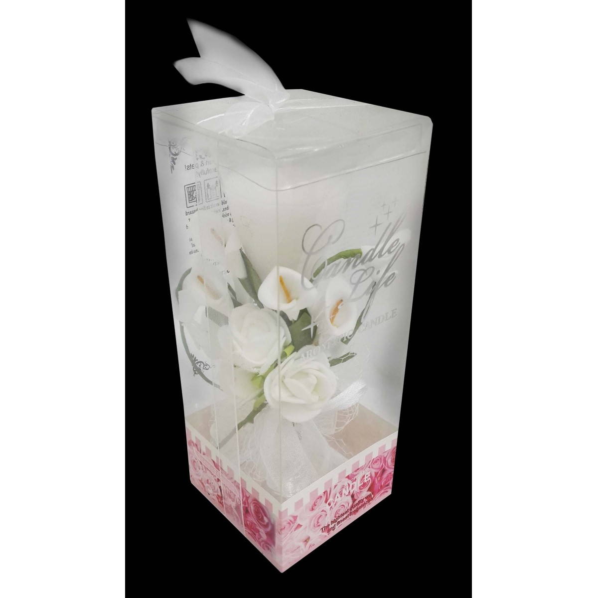 Vela Decorativa Mini 15 Anos Festa Flor Enfeite 24 Unidades Branca Kit 24 Unidades (WL-C)