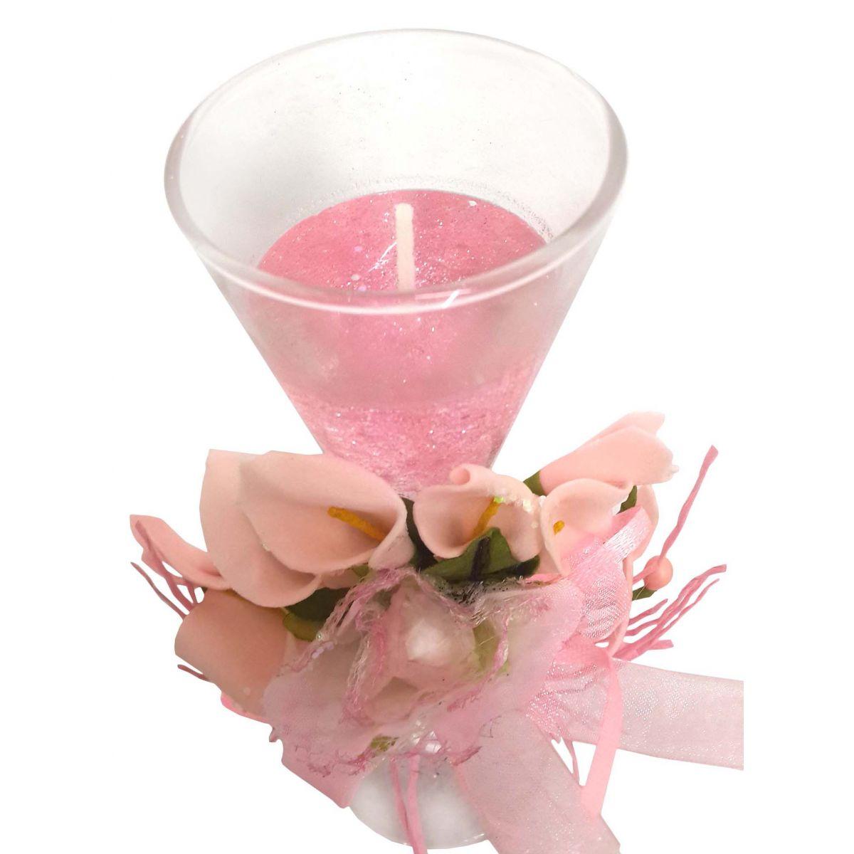 Vela Decorativa Mini Festas Casamento 15 Anos Flor Rosa (WL-C)