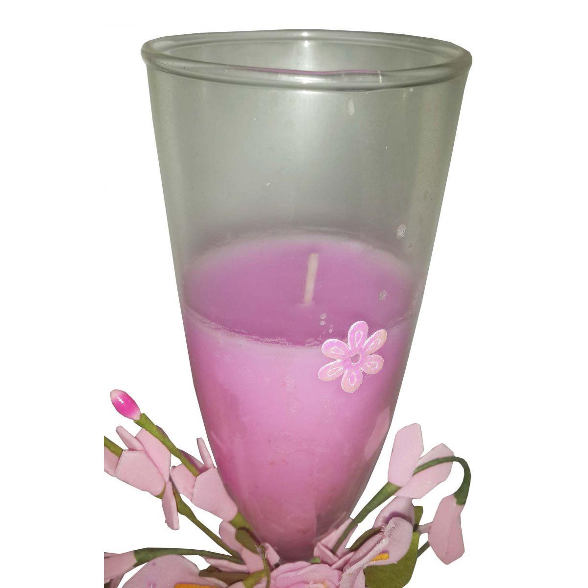 Vela Parafina Perfumada Decorativa Grande Fragrancia Flores Rosa (WL-A)