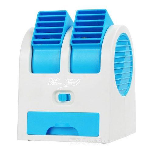 Ventilador Para Computador Pc Notebook USB Pilha Portatil Aroma Climatizador Com Agua Pequeno Cor Azul