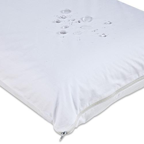 Kit Capa Protetora de Travesseiro Impermeável em Percal Egípcio 200 Fios - 4 Peças