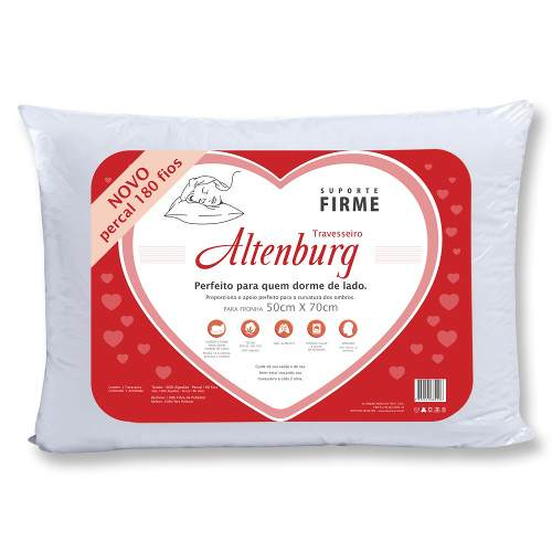 Kit 1 Travesseiro Extra Firme + 1 Firme Altenburg 50x70cm