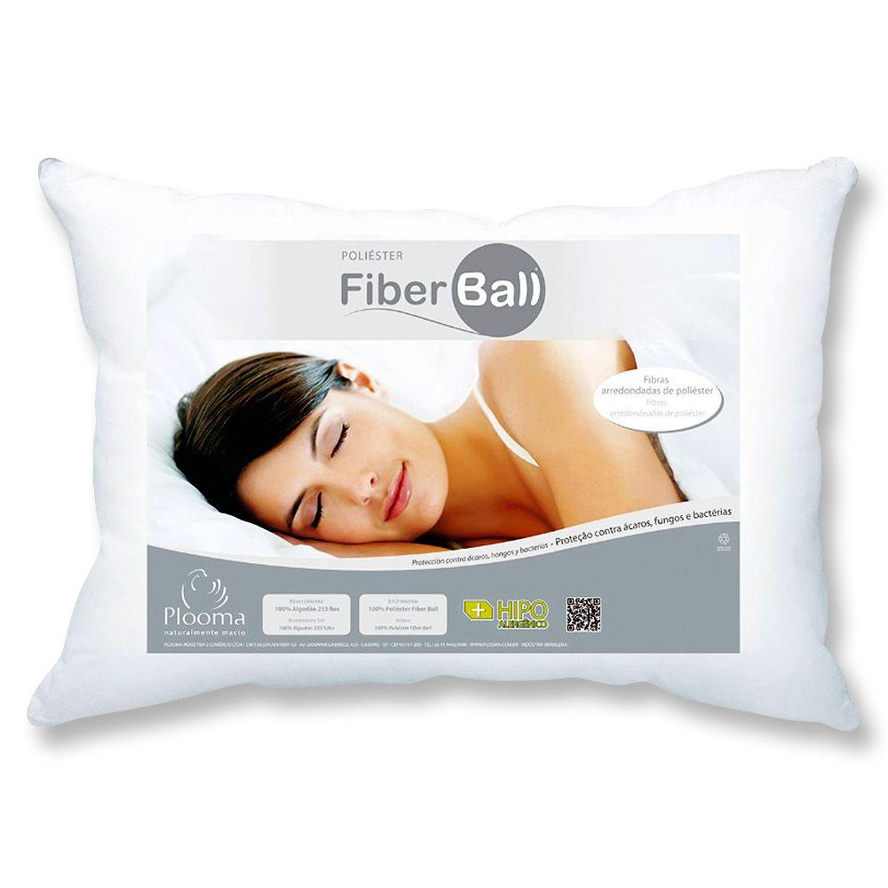 Kit 2 Travesseiros Fiber Ball 50x70 Plooma