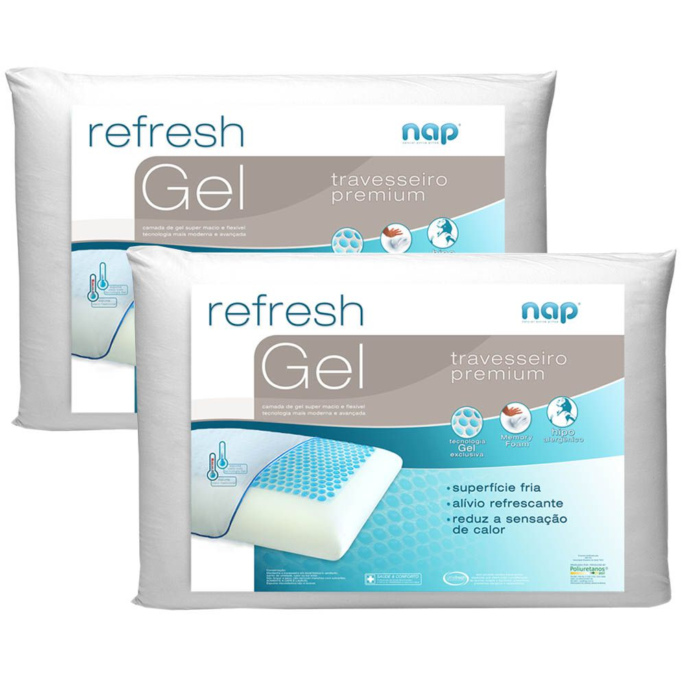 Kit 2 Travesseiros Nasa Nap Refresh Gel
