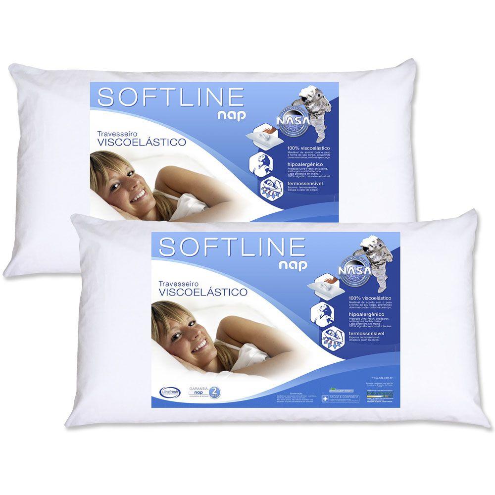 Kit 2 Travesseiros Nasa Nap Softline King Size